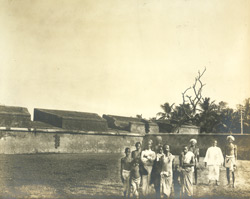 Exterior view of a portion of bastion, old town wall of Madras